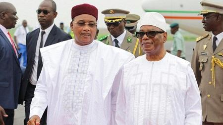 """Le Malien Ibrahim Boubacar Keita et le Nigérien Issoufou Mahamadou ont exprimé """"le souhait que le sommet extraordinaire de la Cédéao prévu le 14 septembre 2019 à Ouagadougou puisse aboutir à de mesures nouvelles"""