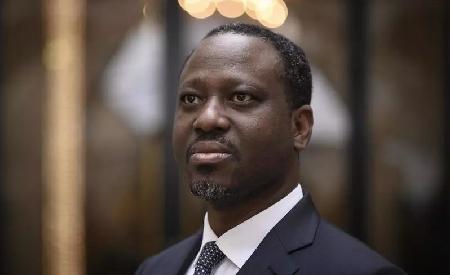 L'ancien leader rebelle ivoirien et candidat à l'élection présidentielle, Guillaume Soro, à Paris le 29 janvier 2020. Lionel BONAVENTURE / AFP