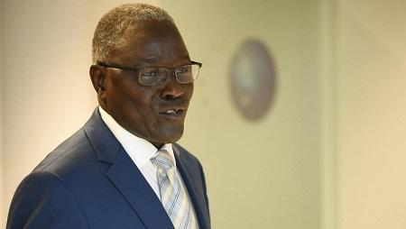Le ministre des Affaires étrangères du Niger, Kalla Ankourao, a conduit une délégation de la Cédéao à Bissau, le 3 novembre 2019. © JOHN THYS / AFP