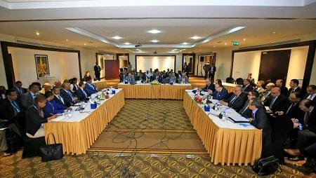 Des pourparlers avaient lieu à Khartoum le 21 décembre 2019 sur le Barrage de la Renaissance sur le Nil. © AFP Photos/Ashraf Shazly