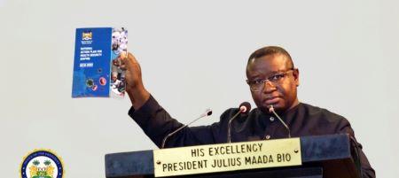 Le président sierra-léonais Julius Maada Bio