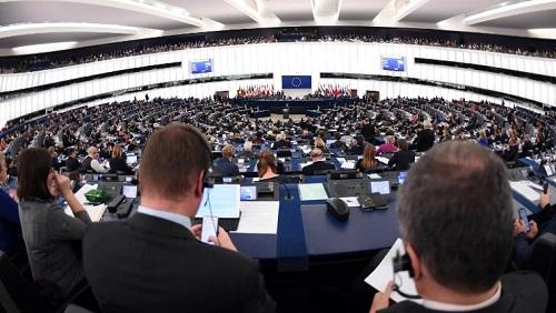 Les députés du Parlement européen réunis en session plenière, le 13 novembre 2018 (photo d'illustration). © FREDERICK FLORIN / AFP