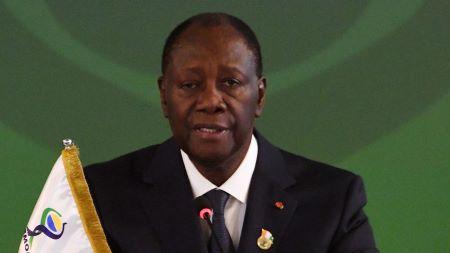 Le président de Côte d'Ivoire Alassane Ouattara