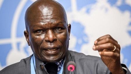Doudou Diene, le président de la Commission d'enquête des Nations unies sur le Burundi, appelle à la «vigilance» face au violations des droits de l'homme dans le pays. © Fabrice COFFRINI / AFP
