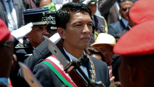 Le président Andry Rajoelina, ici lors de sa cérémonie d'investiture, à Antanarivo, le 19 janvier 2019, est en visite à l'île Maurice (photo d'illustration). © REUTERS/Clarel Faniry Rasoanaivo