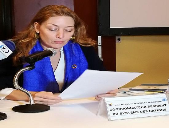 Allegra Maria Del Pilar Baiocchi, coordonnatrice résidente des Nations unies au Cameroun
