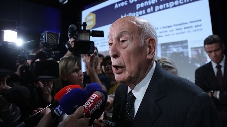 Valery Giscard d'Estaing en 2019.  © JACQUES DEMARTHON Source: AFP