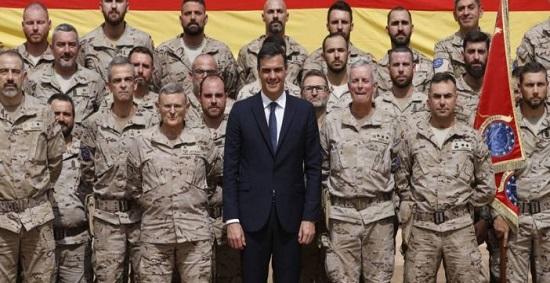 Le premier ministre espagnol Pedro Sanchez a effectué ce  jeudi 27 décembre une visite aux militaires espagnols déployés au Mali