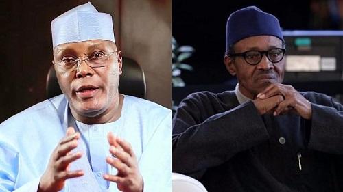 Alhaji Atiku Abubakar et  Muhammadu Buhari . Photo: dailypost.ng