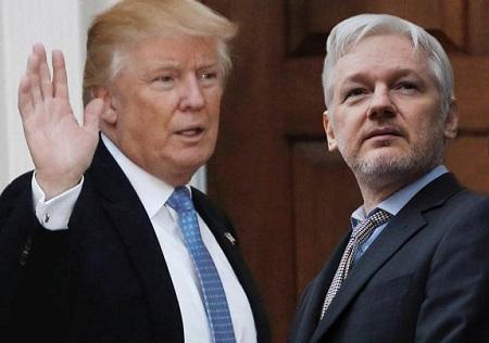 Donald Trump etJulian Assange: Image de independent.co.uk (photos de Reuters)