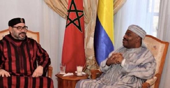 Ali Bongo et Mohammed VI à l'hôpital militaire Mohammed V à Rabat, ce 3 décembre