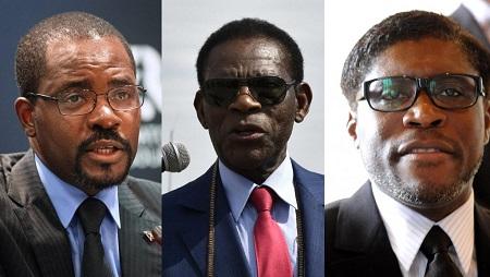 De gauche à droite: Gabriel, Teodoro et Teodorin Obiang. © AFP/Rodger Bosch/Airar Raldes/Abdelhak Senna/Montage RFI