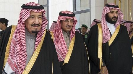 Le prince héritier Mohamed Ben Salman (premier à droite). D. R.
