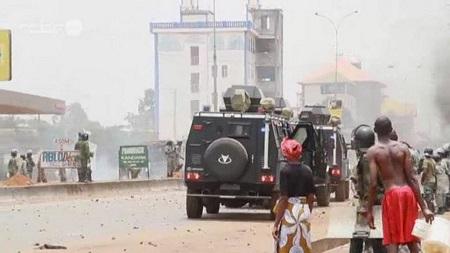 Au moins 28 personnes ont été blessées jeudi à N'Zérékoré, dans le sud de la Guinée, lors d'une manifestation