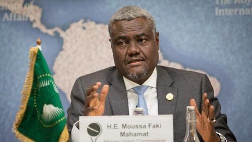 Le président de la Commission de l'Union africaine, Moussa Faki Mahamat, a appelé mercredi au «calme et à la retenue» en Centrafrique. © Flickr/CC/Chatham House/©Suzanne Plunkett 2017