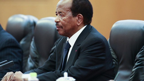 Le président camerounais Paul Biya. © AFP/Pool/Lintao Zhang