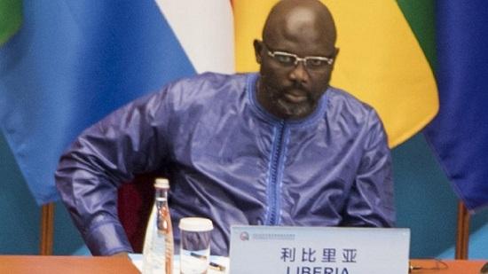 Le Chef de l'État libérien, George Weah