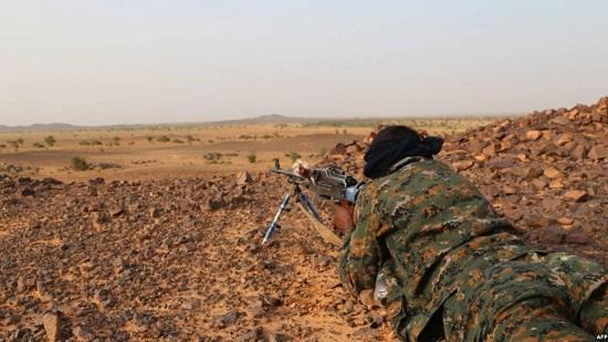 Combattant de la Coordination des Mouvements de l'Azawad près de Kidal, Mali, 28 septembre 2016. © © AFP