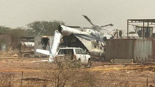 Un hélicoptère militaire éthiopien s'est écrasé à l'intérieur d'un complexe des Nations unies dans la région d'Abiyé prise en étau entre le Soudan et le Soudan du Sud