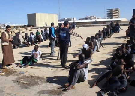 Marché aux esclaves en Libye/Capture d'écran Twitter