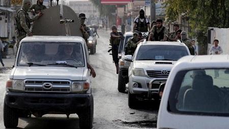 Supplétifs syriens des troupes turques dans la ville frontalière syrienne de Tal Abyad, le 15 octobre 2019 (image d'illustration). © REUTERS/Khalil Ashawi