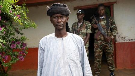 Le général Sidiki Abass, leader du groupe armé 3R en RCA, le 27 avril 2017. © REUTERS/Baz Ratner