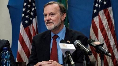 L'assistant au secrétaire d'Etat américain en charge des affaires africaines, Tibor Nagy, à Addis Abeba le 30 novembre 2018. © EDUARDO SOTERAS / AFP
