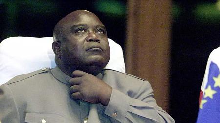 L'ancien président congolais Laurent-Désiré Kabila a été assassiné le 16 janvier 2001 (ici en août 2000). YOAV LEMMER / AFP