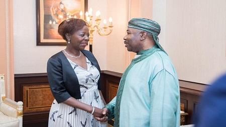 Louise Mushikiwabo a été reçue lundi par le président gabonais Ali Bongo