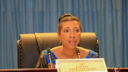 Jeanine Mabunda, présidente de l'Assemblée nationale en République démocratique du Congo