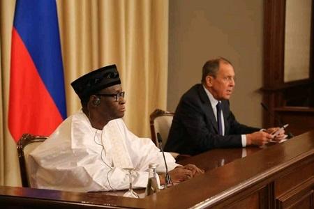 Le ministre malien des Affaires étrangères Tiébilé Dramé a rencontré son homologue russe Sergueï Lavrov