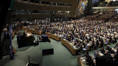 Le droit de vote est suspendu à tout pays qui n'a pas payé sa cotisation depuis deux ans. REUTERS/Brendan McDermid