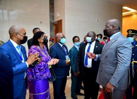 Le président Félix Tshisekedi , lors de son passage à Conakry, a tenu à saluer la communauté des congolais vivant en Guinée