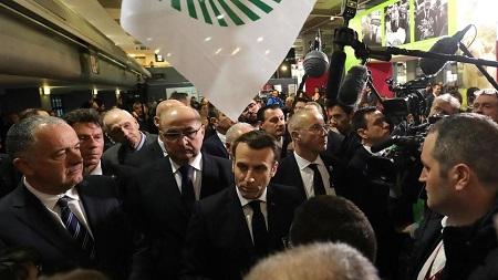 Le président français Emmanuel Macron au Salon de l'agriculture à Paris, le 22 février 2020. Ludovic Marin/Pool via REUTERS