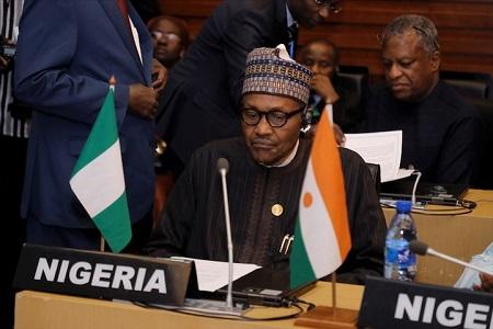 Le président du Nigeria, Muhammadu Buhari, Sommet extraordinaire de la CEDEAO à Addis-Abeba, Dimanche 09 février 2020