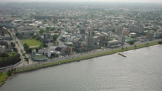 Une vue aérienne de Libreville au Gabon. © ©Bajan28/creativeCommons