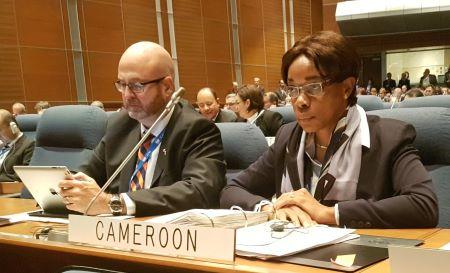 Mme AVOMO ASSOUMOU PAULE épouse KOKI, directrice générale de l'autorité de l'aviation civile du Cameroun, chevalier de l'ordre de la valeur
