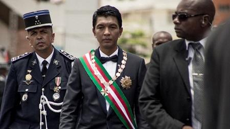 Le président malgache Andry Rajoelina, le 19 janvier 2019 lors de son intronisation. © RIJASOLO / AFP
