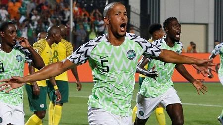 William Troost-Ekong a marqué le but de la victoire du Nigeria face à l'Afrique du Sud Amr Abdallah Dalsh/Reuters