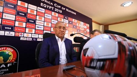 Le président de la CAF, le Malgache Ahmad, à la veille du match d'ouverture de la CAN 2019, le 20 juin au Caire. RFI/Pierre René-Worms