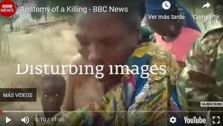 Image arrêtée du documentaire «Anatomy of a killing» de la BBC (Africa Eye), diffusé en septembre 2018, sur le meurtre par un groupe de soldats de deux femmes et deux jeunes enfants. © BBC «anatomy of a killing»