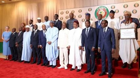 Les dirigeants des pays membres de la Cédéao, samedi 29 juin 2019, à Abuja, au Nigeria.GETTY IMAGES