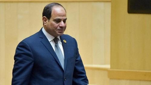 Le président égyptien Abdel Fattah al-Sissi, le 10 février 2019, ici au Sommet de l'UA. SIMON MAINA / AFP