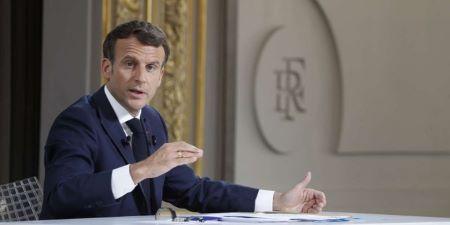 Conférence de presse d'Emmanuel Macron, le 10 juin 2021, à Paris. JEAN-CLAUDE COUTAUSSE POUR « LE MONDE »