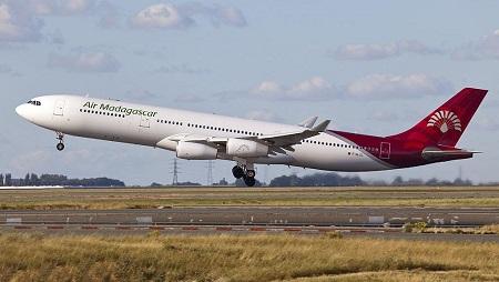 Un Airbus A340-300 de la flotte Air Madagascar. © Maarten Visser
