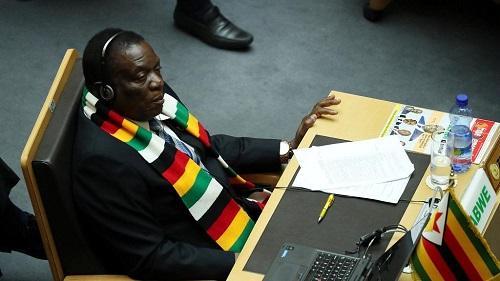 Le président du Zimbabwe, Emmerson Mnangagwa