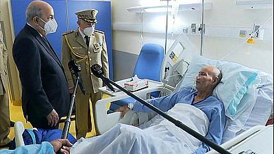Le président algérien Abdelmadjid Tebboune a rendu visite à Brahim Ghali, chef du Front Polisario