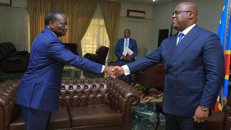Felix Tshisekedi / Sylvestre Ilunga Ilunkamba © Photomontage RFI - Pascal Mulegwa