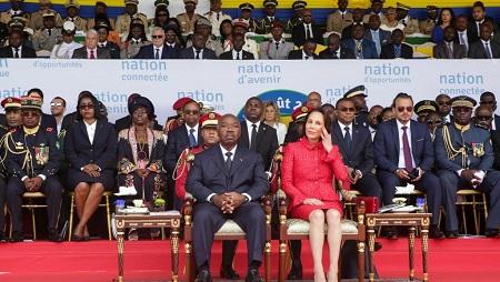 Lors de sa dernière apparition publique pour la fête du 59e anniversaire de l'indépendance, à Libreville, le 17 août 2019, Ali Bongo n'a pas pris la parole. © Steve JORDAN / AFP