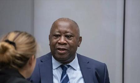 L'ancien président ivoirien Laurent Gbagbo à la Cour pénale internationale de La Haye . AFP
